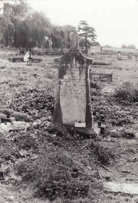 Historic picture of Makaraka cemetery, block MKOLD, plot 172.