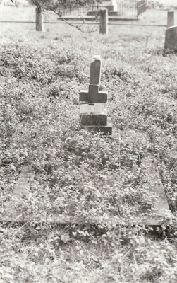 Historic picture of Makaraka cemetery, block MKOLD, plot 31.